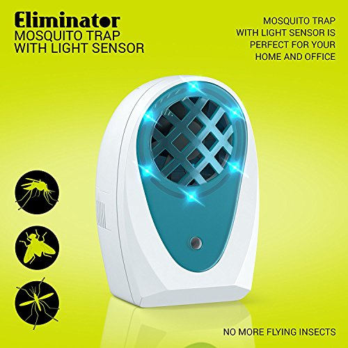 Eliminator Indoor Plug-in Mosquito and Fly Trap, with Bright LED UV Light Attracter and Fan Catcher and Killer/Get Rid of All Flies - Mosquito Trap for Residential and Commercial Use