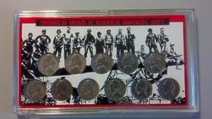 Complete Silver War Nickel Set 1942-1945 P-D-S SGS Certified
