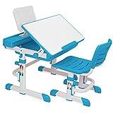Barton Kids Desk Interactive Work Station, Height Adjustable Lead-Free (blue)