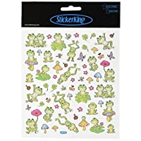 Tattoo King Multi-Colored Stickers-Spotted Frogs