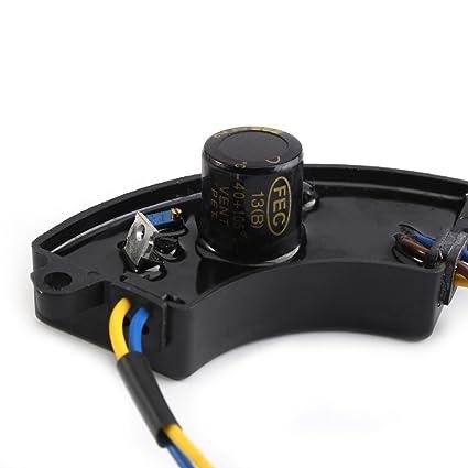voltaje de salida de 100 VCC Regulador de voltaje del generador AVR 2KW regulador de voltaje monof/ásico Piezas del generador de gasolina con carcasa de aluminio