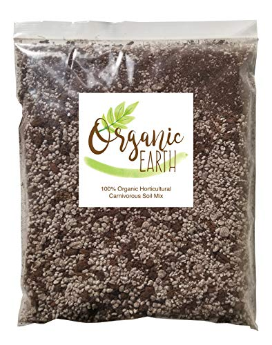 (Carnivorous Plant Soil Mix for Venus Fly Traps Sundews & Pitcher Plants. Organic Terrarium Carnivore Plant Soil Made of Sphagnum Peat Moss and Perlite (Medium - 2 Quart))