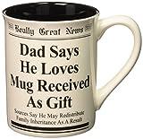 Best Enesco Dad Mugs - Enesco 4.5-Inch Really Great News Mug by Lorrie Review