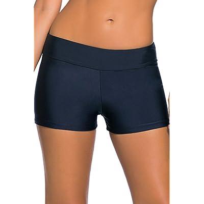 Cokar Womens Swim Board Shorts Bikini Tankini Bottom Boyshorts Swimwear Beachwear