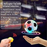 2 Pack Flying Ball Kids Toys RC Flying Toys Hand Controlled Helicopter Infrared Induction RC Flying Light Up Ball for…