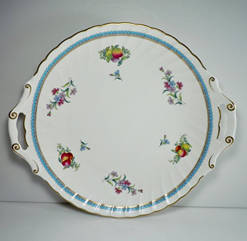 Spode Trapnell Cake Plate Open Handles 12 1/4