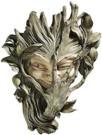 Design Toscano The Poison Ivy Forest Witch Greenman Wall Sculpture