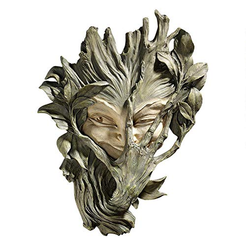 Design Toscano Bashful Wood Sprite Tree Face Mystic Decor Wall Sculpture, 13 Inch, Two Tone Stone from Design Toscano