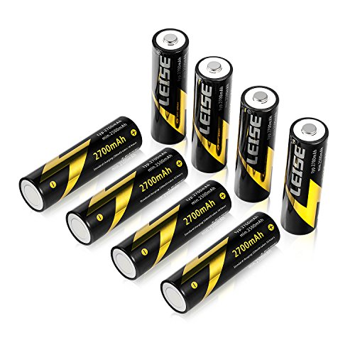 Leise AA 8 Pack 2700mah Rechargeable Batteries Ni-MH Precharge Battery -