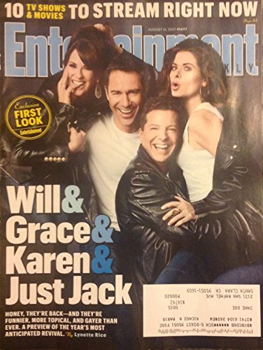 Entertainment Weekly Magazine (August 11, 2017) Will & Grace Reunion