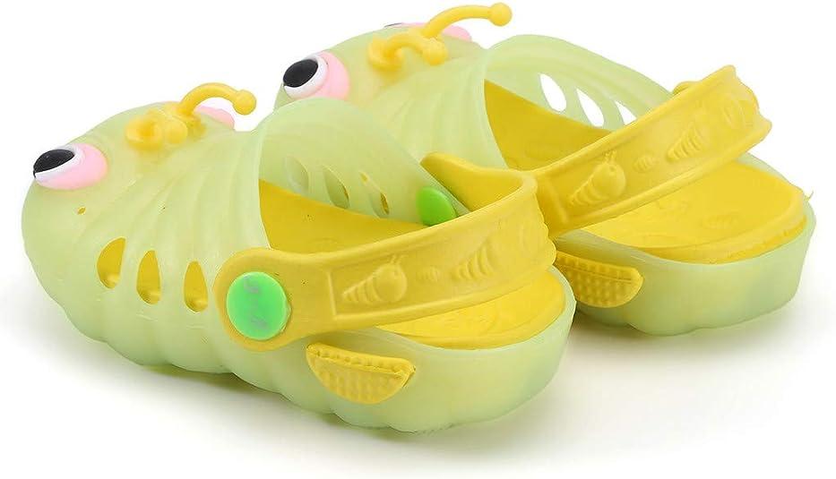 YGbuy Verano Ni/ño Beb/é Zapatillas Ni/ños Ni/ñas Sandalias de Dibujos Animados Zapatillas de Forma de Oruga Zapatos Luminosos de luz LED Unisex