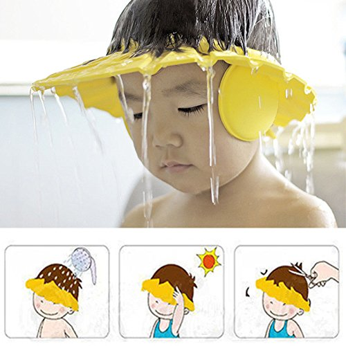 Baby Adjustable Shampoo Shower Bathing Protect Eye Cap Wash Hair Shield Hat Random Color 1 Pack Bhbuy