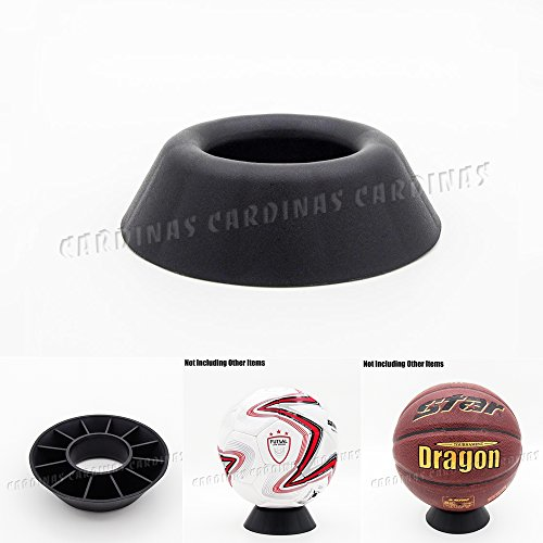 Odoria Black Round Dimple Blocks for Basketball Football Volleyball Softball Bowling BallPedestal Display Stand Holder