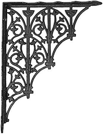 Arch Cast Iron Shelf Brackets Pair