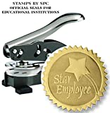 Embosser Bundle // Custom Embosser (Seal) & Premium Gold Foil Embossing Certificate Labels // ''Star Employee''; Impression: 1-5/8 [SPC2CS] // Employee/Student Recognition At Work/School