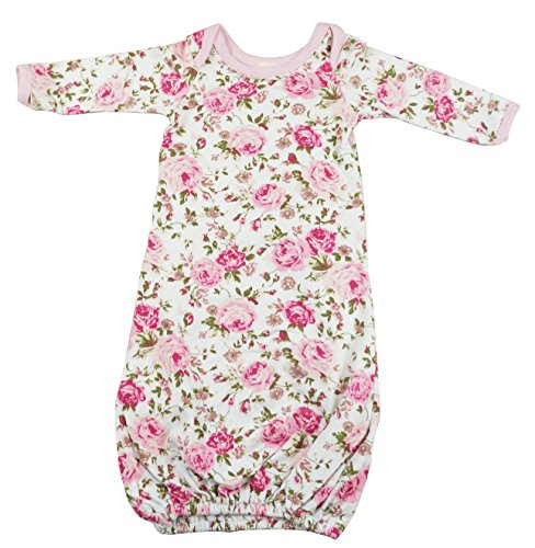 PoshPeanut Baby Gown Set Layette Girl's Super Soft Comfortable Floral Newborn Swaddle - Girl Posh Baby