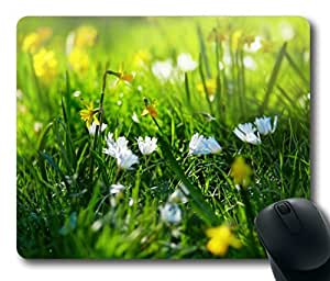 Beautiful Flowers Mountain Sky Water Mouse Pads Customized Online by ruishername