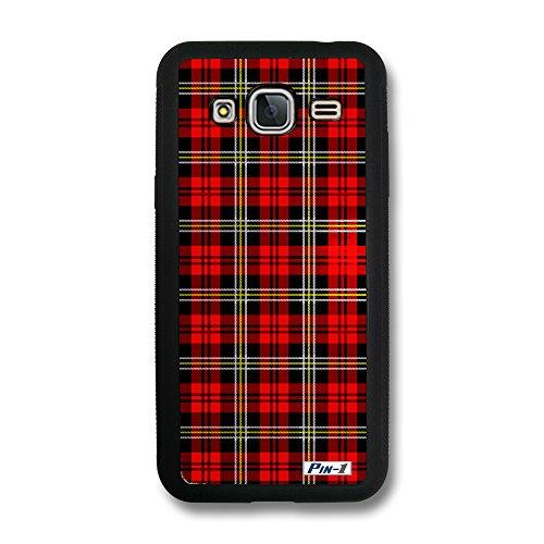 Pin-1 Snap-on Hard Case with Black TPU Bumper for [Samsung Galaxy J3 (2016) / J320] - Stewart Pattern Large DSE0126 ()