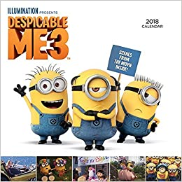 despicable me 3 oversized wall calendar