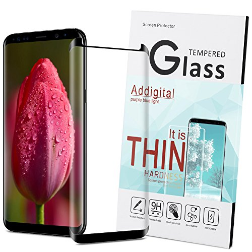 Galaxy S8 Screen Protector,Addgital S8 Glass Screen Protector,[HD Clear Film] Curved Edge to Edge [Anti-Bubble] Screen Protector for Samsung Galaxy S8#01