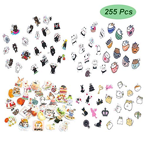 Planner Stickers 255pcs Variety Funny Animals - Super Cute Cat Bear Rabbit and More Decorative Sticker Collection for Scrapbooking,Calendars,DIY Crafts,Album,Bullet Journals,School Office Stationery