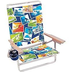 Rio Beach Classic 5 Position Lay Flat Folding Beach Chair - Soul Surfer Polaroid
