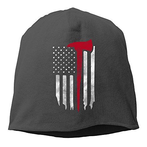 XVintageSkullCap Firefighter American Flag Women/Men Wool Hat Soft Stretch Beanies Skull Cap Unisex -