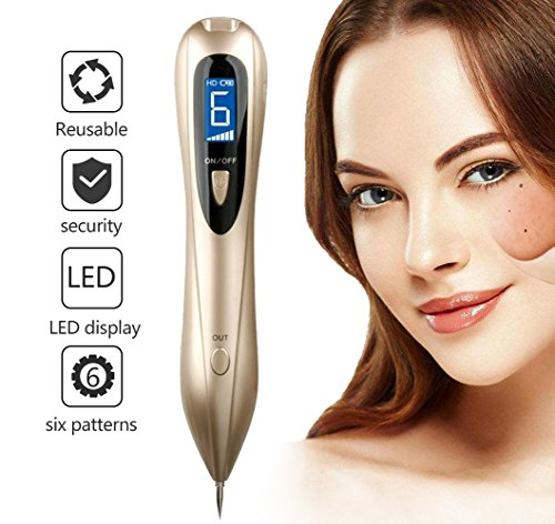 FLASH SALE!!Mole Removal Pen With LED Spotlight Portable USB Charging Freckles Dark Spot Nevus Tattoo Dot Mole Remover Beauty Skin Machine with LCD Display Perfect for Removing Skin Tag - Skin Care Problem Solvers