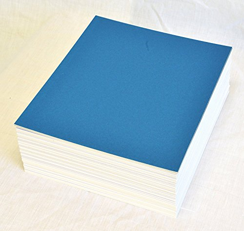 topseller100, Pack of 50 sheets 8x10 UNCUT matboard / mat boards (Blue) ()