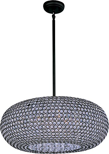 Maxim 39879BCBZ Glimmer 9-Light Pendant, Bronze Finish, Beveled Crystal Glass, G9 Xenon Xenon Bulb , 100W Max., Wet Safety Rating, Standard Dimmable, Glass Shade Material, 1150 Rated Lumens