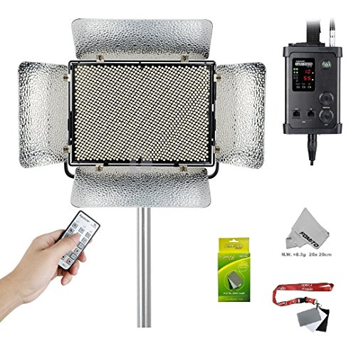 Fomito Aputure Light Storm LS 1C 1536 Lamp Bi-color LED Light Panel with V-mount Plate Adjustable Color Temperature 3200k-5500k by Fomito
