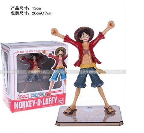 "Anime one piece monky D luffy action figure toys 15 cm(6.3"") PVC dolls decoration no original box"