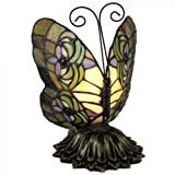 Standard Specialty 1307 Pretty Tiffany Butterfly Table Lamp