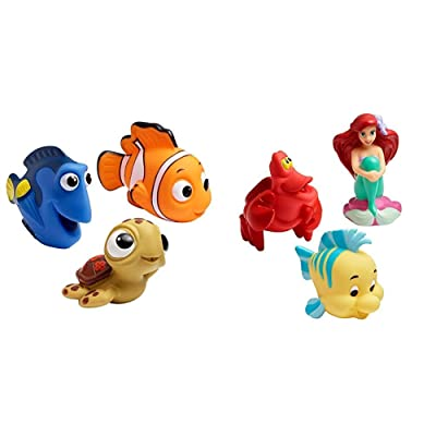 The First Years Disney Baby Bath Squirt Toys, Finding Nemo with Disney Baby Bath Squirt Toys, The Little Mermaid : Baby