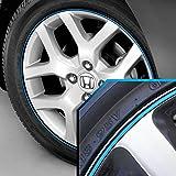 honda accord 17 rims - Wheel Bands Sky Blue in Black Pinstripe Edge Trim for Honda Accord 13-22