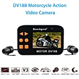 Motorcycle dash cam 130°Motorcycle Car Vehicle Cam 1080P FHD Waterproof Dual Lens 2.7 Camcorder Night Version