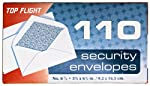 Top Flight 6900537 Boxed Security Envelopes, 3.75 x 6.625-Inches with Security Lining, 110 Envelopes per Box (White)