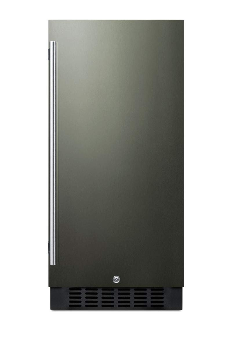 Summit FF1532BKS 15 Inch Compact Refrigerator in Black Stainless Steel