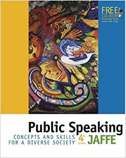 Public Speaking Concepts And Skills For A Diverse Society With CD Clella Jaffe 9780534606510 Theater Amazon Canada