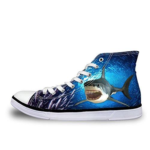 Azul Color Showudesigns Lona 6 Mujer Zapatillas De Para rXfYXv