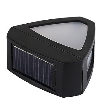 sharplace luz solar de pared Sensor de movimiento lámpara principal forma triángulo para jardín Patio, blanco cálido: Amazon.es: Jardín