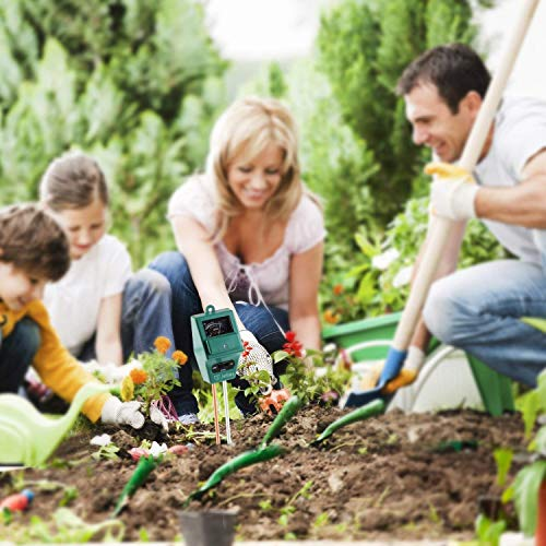 Jellas Soil pH Meter, 3-in-1 Moisture Sensor Meter/Sunlight/pH Soil Test Kits Test Function for Home and Garden, Plants, Farm, Indoor/Outdoor Use by Jellas (Image #6)