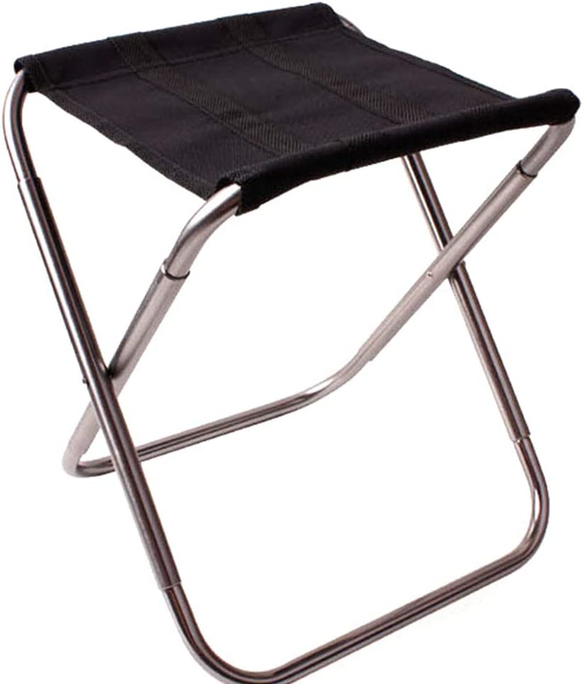 Lawrence Portable Camping Stool Mini Foldable Camp Chairs for Hiking Gold Travelling Fishing
