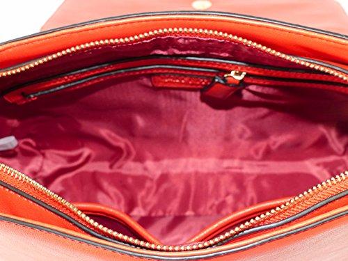 Valentino by Mario Valentino Tasche Diane VBS1NN05STD Rosso Damen Schultertasche Umhängetasche Handtasche Rot (30 cm x 22 cm x 10 cm)