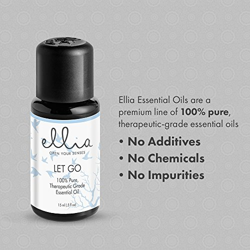 Let Go Blend Aromatherapy Essential Oil | 15 mL, 100% Pure, Therapeutic Grade Aromatherapy | Eases Stress, Calms, and Relaxes, Use in Diffuser or Topically on Skin, Peppermint, Lavender, Basil | Ellia by Ellia (Image #3)