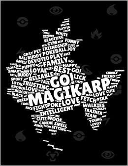 Amazon com: Magikarp: Pokemon notebook, Large College Ruled