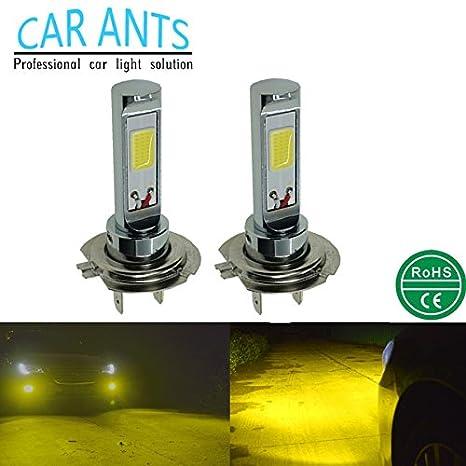 Car Ants iluminación automáticamuy Bombillas LED para faros antiniebla de coches,30W,1400lm,H1 H3 H4 ...