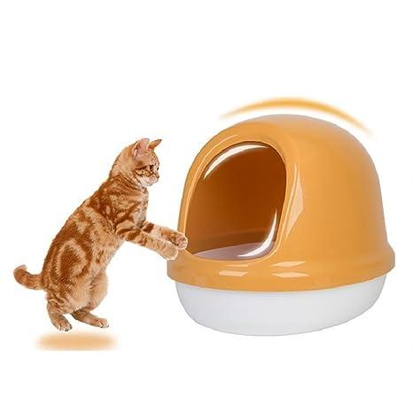 LYAQI Arenero para Gatos,Bandeja higienica Gatos,Práctico WC para Gatos,Caja Arena