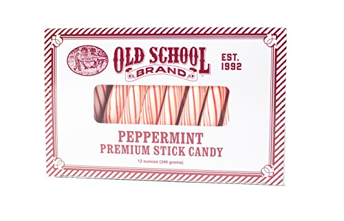 Old School Brand Premium Candy Cane Peppermint Sticks ()