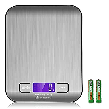 Etekcity 11lb/5kg Digital Multifunction Stainless Steel Kitchen Food Scale